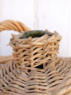 Maison Sacrebleu French Vintage Demijohn Wicker Basket