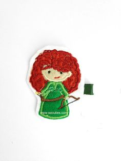 Brave Merida Disney Princess Set Felt embroidery hair clip / baby by soCuties, $4.00