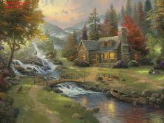 Mountain Paradise ~ Thomas Kinkade