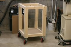 "Multi-Use Workshop cart, one cart can have different ""workstations"" put on top, neat idea"