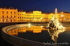 schloss-schoenbrunn-bei-nacht, Vienna