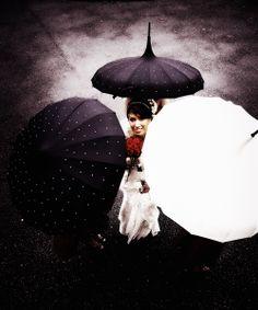 Bride with Umbrellas Kilkenny Castle
