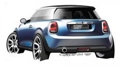 A gallery of design sketches and photos from the design process of the new-generation MINI hatch. Car Design Sketch, Car Sketch, Classic Mini, Classic Cars, Mini Morris, Mini Photo Albums, Automotive Design, Auto Design, City Car