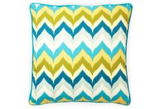 loving this color combination and the zig zags - yes, it's a pillow, but would make an EASY sophisticated cookie!