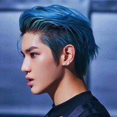 """blue hair taeyong is so powerful cr. Nct Johnny, Johnny Seo, Taemin, Shinee, Lee Taeyong, Nct 127, Capitol Records, Jaebum, K Pop"