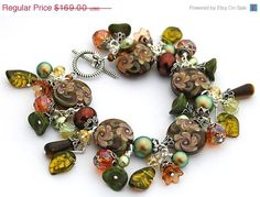 BLACK FRIDAY SALE Autumn Roses Bracelet by shalayneoriginals