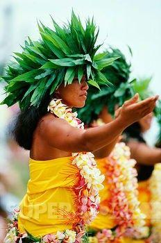 Native People of Bora Bora | French Polynesia, Bor Bora, Tahitian Dancers in native costume.