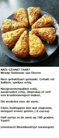 Nasi-gehakt taart Quick Recipes, Low Carb Recipes, Healthy Recipes, Gaps Diet, Keto Dinner, Soul Food, Healthy Life, Brunch, Food And Drink