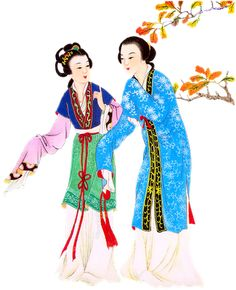 Chinese Hanfu style of clothing. Song Dynasty period