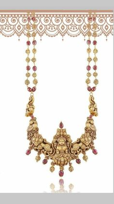 India Jewelry, Gold Jewellery, Neck Piece, Latest Jewellery, Jewelry Patterns, Wedding Jewelry, Jewelry Collection, Sarees, Temple
