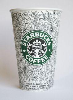 Beautiful Doodles On Starbucks Cups