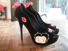 Betty Boop Heels by PinUpInPink on Etsy, $100.00