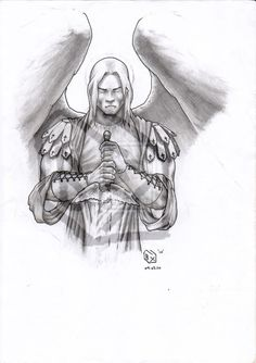 Thinks this would make a great tattoo of St. Michael, my patron saint