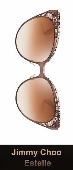 ffb5397e79 Jimmy Choo Sunglasses - Estelle S   Frame  Shiny Black Lens  Gray Gradient