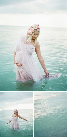 Interesting Dreamy seaside maternity shoot