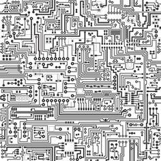 Adesivo de parede Placa de circuito
