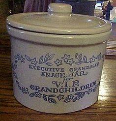 Vintage crockery cookie jar for VIP Grandchildren