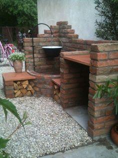 Gardening – Gardening Ideas, Tips & Techniques Outdoor Kitchen Plans, Outdoor Oven, Outdoor Kitchen Design, Backyard Hammock, Backyard Landscaping, Back Gardens, Outdoor Gardens, Outdoor Fireplace Designs, Garden Yard Ideas