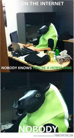 "Oh my gosh this is cracking me up more than it should! ""Nobody."" Hahaha!"