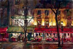 wintertime in paris art garmash michael inessa paintings