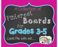 Come Pin with me... TONS of teaching ideas on a collection of Pinterest Boards for Grades 3-5!