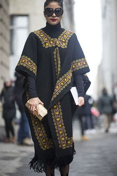 ethnic street style New York fashion week 2015