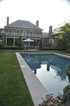 pool, pool in lawn, garden, landscape