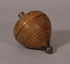 19th Century Boxwood Spinning Top
