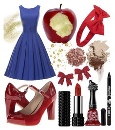 """Snow White"" by ravenelesig ❤ liked on Polyvore featuring Franco Sarto, Kat Von D, Forever 21, Natures Jewelry, Anna Sui, Bobbi Brown Cosmetics, Bare Escentuals, snowwhite and fairytale"