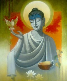 Buy Buddha Vigilance painting online - original museum quality artwork by Sanjay Lokhande, available at Gallerist. Check price, painting and details online. Lotus Buddha, Art Buddha, Buddha Artwork, Buddha Peace, Budha Painting, Lotus Painting, Figure Painting, Gautama Buddha, Buddha Buddhism
