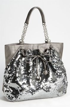 bebe 'Unique Chic' Sequin Tote available at Nordstrom Bag Jeans, Glitter Make Up, Nordstrom, Cute Purses, Cute Bags, Beautiful Bags, My Bags, Purse Wallet, Fashion Bags