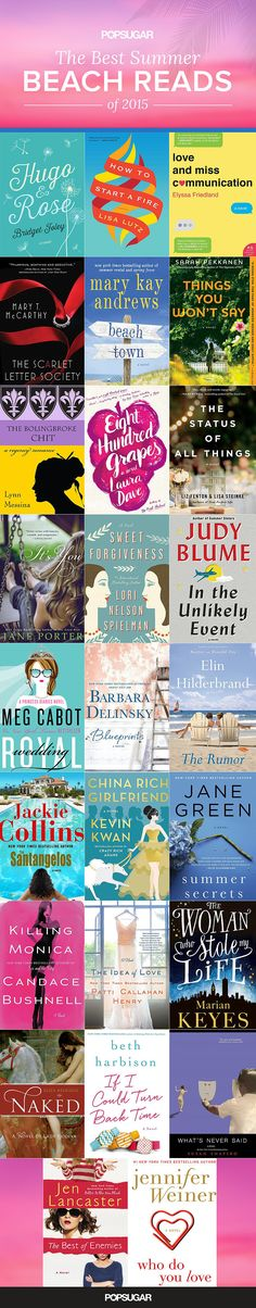 *Love stories make the best Summer reads, and we've got 26 romantic beach reads you won't be able to put down. Contemporary romance writer Brenda Janowitz, author of the Brooke Miller series, is sharing her picks for the best new Summer books of I Love Books, Great Books, New Books, Books To Read, Love Stories To Read, Beach Reading, I Love Reading, Reading Lists, Reading Books