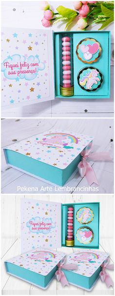 kit lindo para lembrancinha #festaunicornio #lembrancinhaunicornio Unicorn Birthday Parties, Unicorn Party, Girl Birthday, Diy And Crafts, Paper Crafts, Fall Diy, Baby Shower Favors, Box Design, Holidays And Events