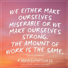 The same could be said for making our selves sick or well. The amount we think is the same, and our thoughts are creating our reality! #wellness #30daysofwellness