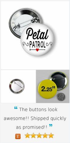 Petal Patrol, Petal Pixy, Flower Girl Pinback Button #flowergirl #bride #weddings #pinback