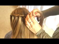 Faux Waterfall Braid tutorial video by Sweethearts Hair Design - YouTube