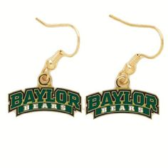 #Baylor Bears Logo Earrings