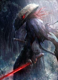 World of Our Fantasy - - Samurai Dark Fantasy Art, Fantasy Artwork, Dark Art, Fantasy Series, Arte Ninja, Ninja Art, Fantasy Character Design, Character Art, Character Concept