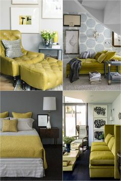 The Chartreuse and Grey Trend