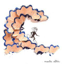 Pencil shavings artwork - Marta Altes