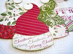 50 Christmas Themed Gift Tag Ideas... Great ideas.