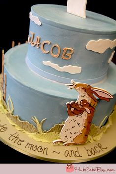 I love you to the moon and back! This was my sons baby book theme, I would have loved this cake at his shower!