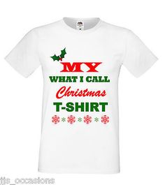 CHRISTMAS LADIES T-SHIRT WHITE FITTED MY WHAT I CALL... GIFT IDEA SECRET SANTA