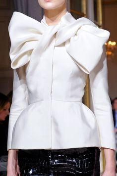 Amazing Bow detail on white jacket - be careful - you don't want the bow to overpower you...