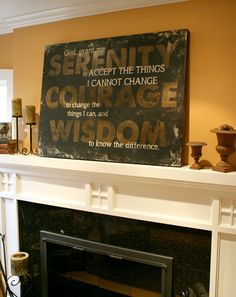 Serenity Prayer Wall Art..I would love this on my wall