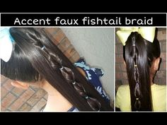 Accent faux fishtail braid - YouTube