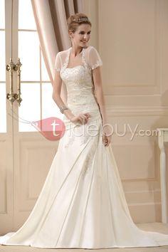 A Line Princess Sweetheart Chapel Train  Wedding Dress for Brides