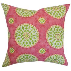 Cotton pillow with medallion motif. Made in the USA.   Product: PillowConstruction Material: Cotton cover and down fil...