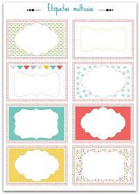 """F de Fifi: Manualidades, maternidad, imprimibles, deco y regalos artesanales para bebés y niños: Etiquetas y """"Bon points"""" imprimibles"""