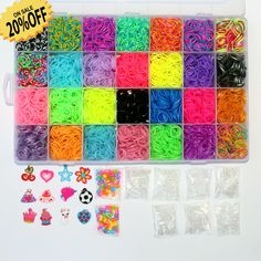 Rainbow Loom Bands, Rainbow Loom Bracelets, Diy Jewelry Making Tools, Frozen Toys, Lol Dolls, Rubber Bands, Craft Kits, Rainbow Colors, Pink And Gold